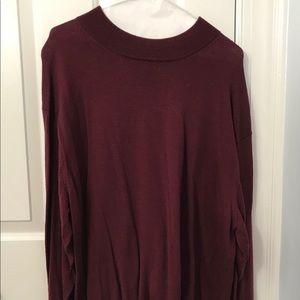 Men's Geoffrey Beene burgundy wool sweater XXL